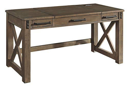 Signature Design by Ashley Aldwin Home Office Lift Top Desk Gray (Furniture For Home Office Office)