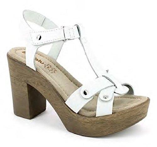 Femme Sandales 35 Bianco Inblu EU Blanc pour qzx7wdOEOS