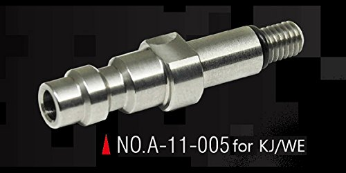 Action Army KJW / WE GBB Stainless Steel CNC HPA Adapter Nozzle Valve (US) Made in Taiwan by Action Army