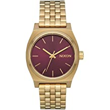 Nixon Women's Medium Time Teller Light Gold/Bordeaux Sunray One Size