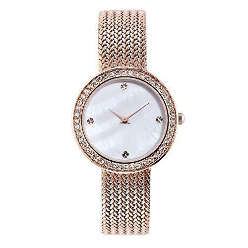 BEWITCHYU Practical Wristwatches Women 's Simple Diamond 10Mm Quartz Watch 35Mm Solid Steel Belt Casual Fashion Decorative Watch Bracelet