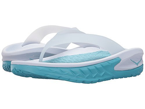 Hoka One One Damen Ora Recovery Flip Thong Sandale Weiß / Blauer Topas