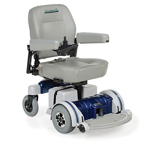Hoveround Electric Wheelchair - Motorized Power Chair and Mobility Scooter | LX-5 Blue Trim, 23-inch Extra Large Adult Seat ()