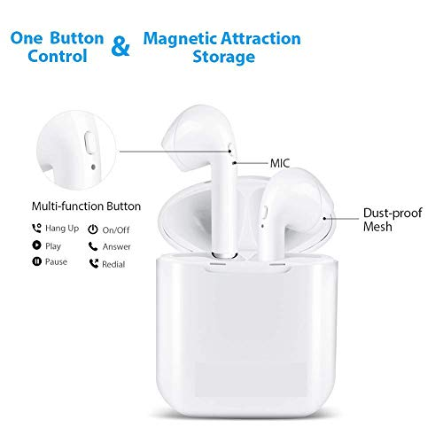 Bluetooth Headphones 4.2 Wireless Earbuds Mini In-Ear Earphones with stereophone/Charging Case/anti-sweat noise canceling microphone for All smartphones
