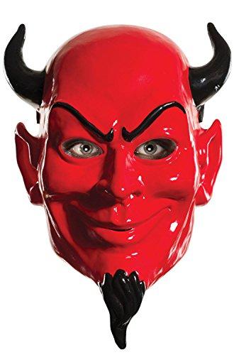 [Brand New Red Devil Scream Queens Demon Adult Half Mask] (Red Devil Scream Queens Costume)