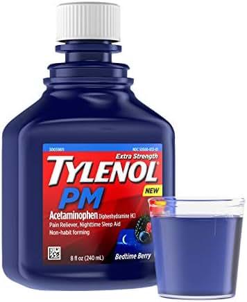 Pain Relievers: Tylenol PM Liquid
