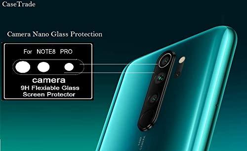 Casetrade 9h Flexible Nano Glass Camera Lens Screen Protector For Xiaomi Redmi Note 8 Pro Amazon In Electronics