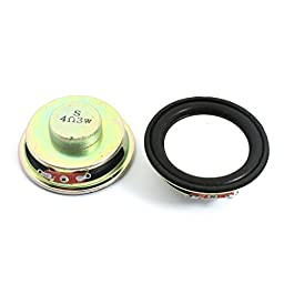 2Pcs 3W 4 Ohm Round Magnet Type LCD Ad Player Speaker Loudspeaker 50mm