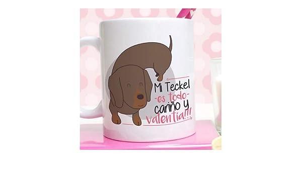 Peromiraqueperros Taza Teckel marrón: Amazon.es: Hogar