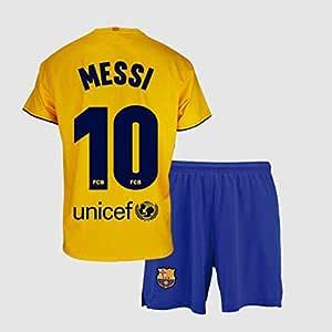 Conjunto Camiseta y pantalón 2ª equipación FC. Barcelona 2019-20 - Replica Oficial con Licencia - Dorsal 10 Messi - Niño Talla 12: Amazon.es: Deportes y aire libre