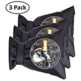 iRookie Outdoor Faucet Covers for Winter -Garden Faucet Socks -Water Sprinkle Valve Insulation Wrap -Hose Bib Protector Spout Cover -Outside Spigot Pipe Freeze Protection -Insulated Tap Pouch (3 Pack)