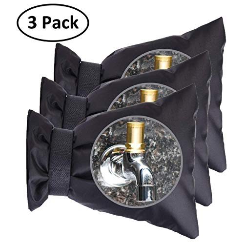 iRookie Outdoor Faucet Covers for Winter -Garden Faucet Socks -Water Sprinkle Valve Insulation Wrap -Hose Bib Protector Spout Cover -Outside Spigot Pipe Freeze Protection -Insulated Tap Pouch (3 Pack) (Valve Water Covers)