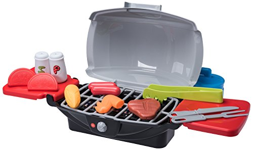 Pretend Kids BBQ Grill Playset With Propane Gas Canister Food And Accessories