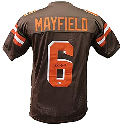 outlet store sale d9d64 f5153 Baker Mayfield Autographed Signed Cleveland Browns Brown ...
