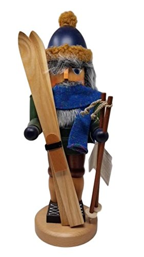 17'' Christian Ulbricht Nutcracker Skier Figure by Christian Ulbricht