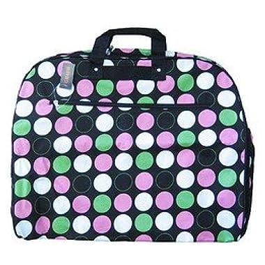 World Traveler 40-inch Polka Dot Garment Bag, Large Dots, Black and Multicolor