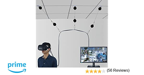 6 Packs Retractable Cable Management for HTC VIVE NEW Version System for HTC VIVE Virtual Reality Headset- MDW Adhesive Drill Free