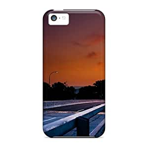 Anti-scratch Case Cover LastMemory Protective Sunset Night Roads Asphalt Case For Iphone 5c