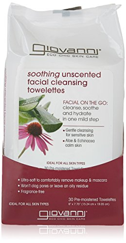 Giovanni Facial Cleansing Towelettes, Unscented, 30 Count