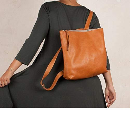 Mochila de cuero marrón, mochila marrón cuero, mochila mujer, mochila piel mujer,