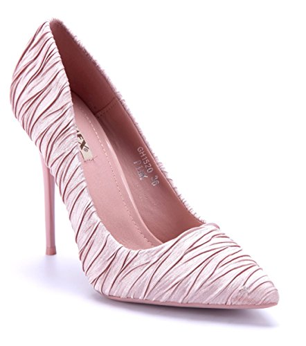 Schuhtempel24 Damen Schuhe Klassische Pumps Rosa Stiletto 11 cm High Heels