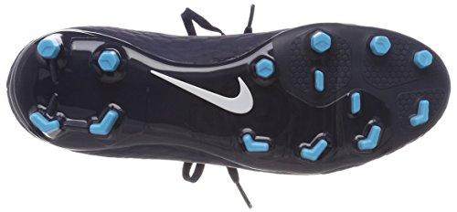 Nike Hypervenom Phelon 3 Df Fg Mens 917764-414 Ossidiana / Bianco / Blu Gamma / Blu Ghiacciaio