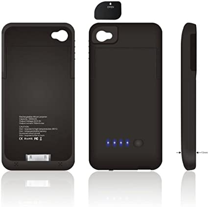 CUSTODIA COVER CON BATTERIA INTERNA PER IPHONE 6- 5/5c/5s CARICA