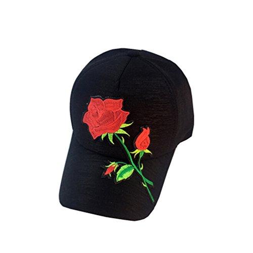 Tuesdays2 Unisex Rose Embroidered Adjustable Strapback Dad Hat Baseball Cap -