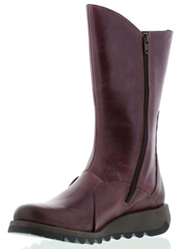 Leather Womens Boots Fly Mes 2 Calf London Mid Purple wUHpqt