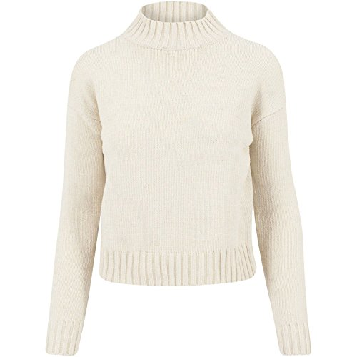 Ladies Chenille Turtleneck Crew light sand XS