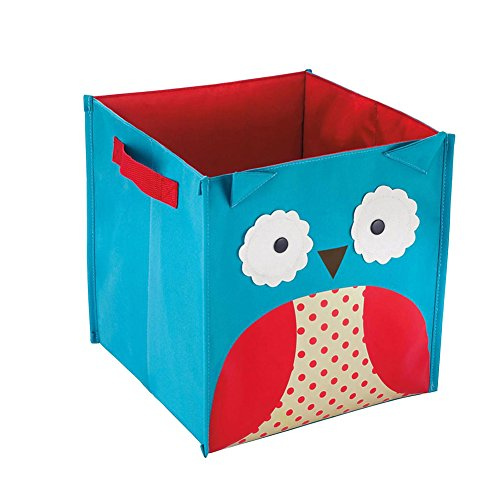 Zehui – Lovely Cartoon Toy Chest Juguete Libros Zapatos Plegable Caja de almacenamiento, Búho