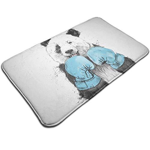 - Jingclor Doormat Entrance Floor Rug Boxing Minimalist Panda Graphics Indoor Mat Non-Slip Flannel for Bedroom Bathroom Living Room Kitchen Home Decorative 80x50CM