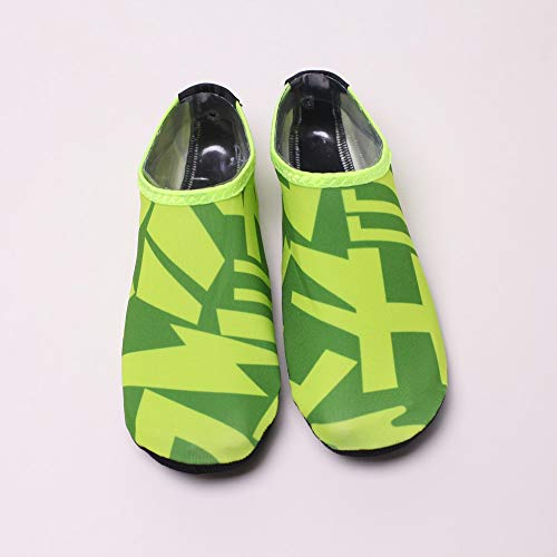 NUWFOR Beach Shoes Water Sports Unisex Water Shoes Barefoot Yoga Socks Diving Barefoot (Green, 11-12 M US Length:10.8'') by NUWFOR (Image #1)