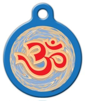 Om: The Sweet Sound Of The Universe – Custom Pet ID Tag for Dogs and Cats – Dog Tag Art – SMALL SIZE, My Pet Supplies