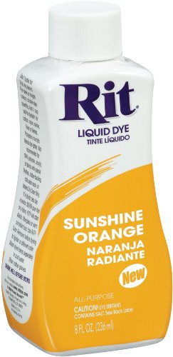 Rit Dye Liquid Fabric Dye, 8-Ounce,  Sunshine - Acetate Orange