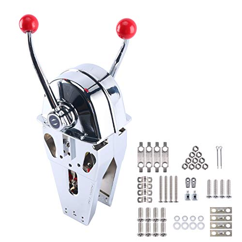 Cable Control Morse (Yaegoo Top Mount Marine Boat Dual Lever Handle Engine Motor Control)