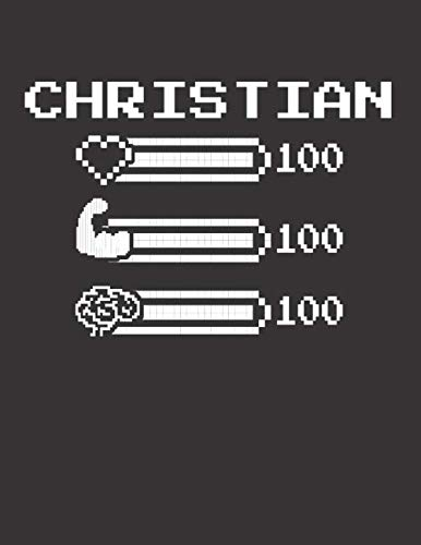 CHRISTIAN: Pixel Retro Game 8 Bit Design Blank Composition Notebook College Ruled, Name Personalized for Boys & Men. Gaming Desk Stuff for Gamer Boys. ... Gift. Birthday & Christmas Gift for Men.