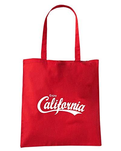 ENJOY Rossa Shopper ENJOY0027 CALIFORNIA Borsa fHwqTtx7n