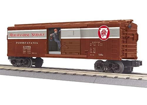 MTH TRAINS; MIKES TRAIN HOUSE PRR OPER. ボックスカー シグナルマン付き B07NYHK9NT