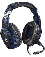Trust GXT 488 Forze-B Gaming Headset - Officially Licensed for PlayStation - Headset met Opvouwbare Microfoon voor PS4 en PS5, In-line Volumeregeling, Zachte Oorkussens, Kabel van 1.2m - Blauw
