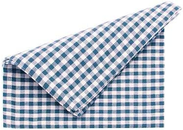 Auberge Check Napkins Blue Pack of 4 45cm Square Walton /& Co