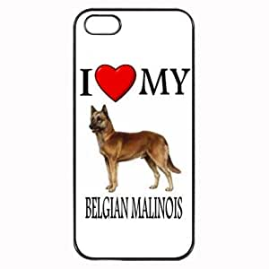 THYde Custom Belgian Malinois I Love My Dog Photo iPhone 6 4.7 Case Cover Hard Shell Back ending