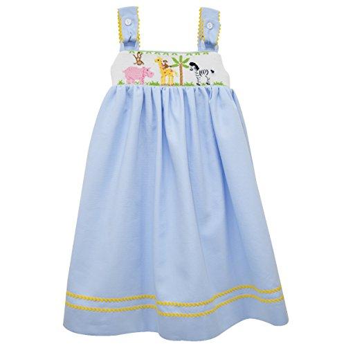 [Zoo Smocked Strap Dress] (Smocked Zoo)