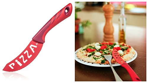 PREMIUM PIZZA KNIVES - Set of 4 Individual Knives - Best Quality Stainless Steel - Multipurpose Kitchen Knife - Pizza Cutter - Dishwasher Safe - Perfect Gift - For Pizza Lovers