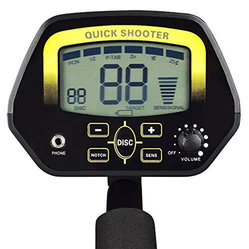 Shumo Accesorios para Detectores de Metales Subterr/áNeos Buscador de Tesoros de Buscador de Oro MD-3030 Avanzado con Auriculares