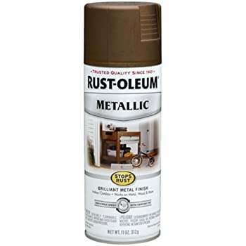 Rust-Oleum 7274830 Metallic Spray, Antique Brass, 11-Ounce