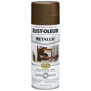 Rust-Oleum 7274830 Metallic Spray, Antique Brass, 11-Ounce