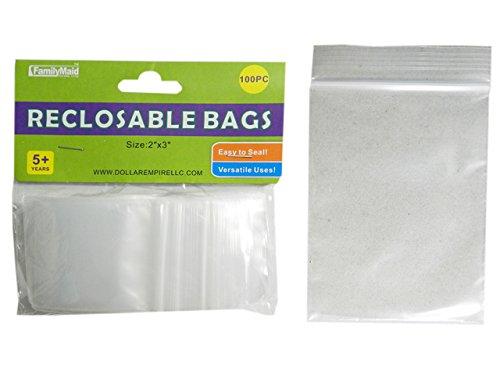 100 PC Reclosable Bags Size: 2'' x 3'' , Case of 144