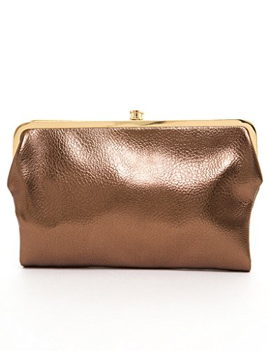 Urban Expressions Womens Vegan Leather Sandra Clutch Wallet (Bronze) ()