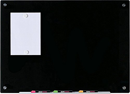 (Audio-Visual Direct Magnetic Black Glass Dry-Erase Board Set - 23 5/8 x 35 1/2 Inches -)